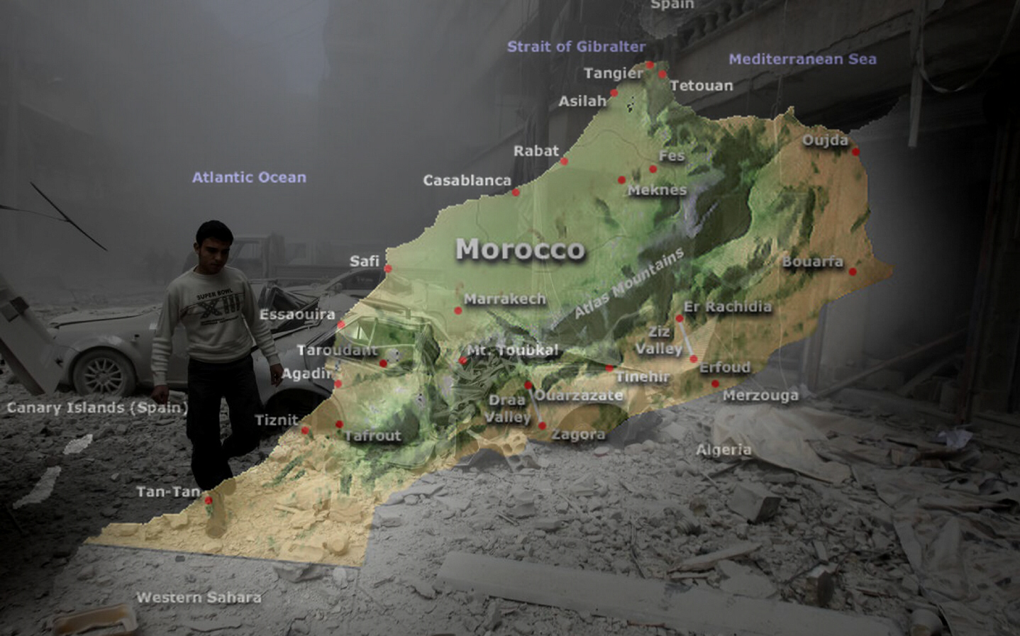 Massive quake rocks Morocco