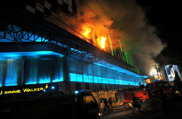 Medan nightclub fire in Indonesia