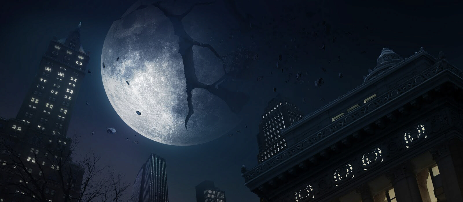 Moon partially destroyed by Russian weapons or asteroid impact