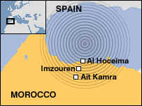 The quake shook the Strait of Gibraltar, just off the northern coast of Morocco