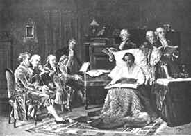 Mozart on his death bed