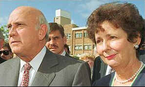 Mr and Mrs de Klerk