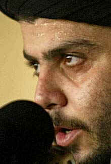 Shiite cleric Muqtada al-Sadr has threatened neighbouring Kuwait