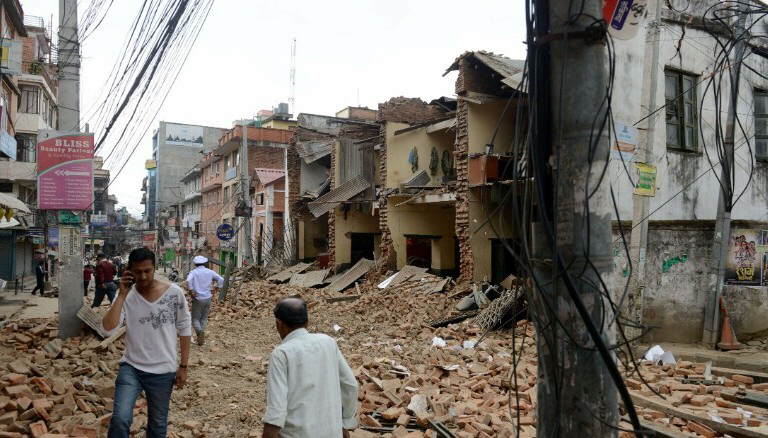 Nepal Earthquake devastation