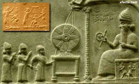 A giant Nephilim king is represented here in a Sumerian clay tablet