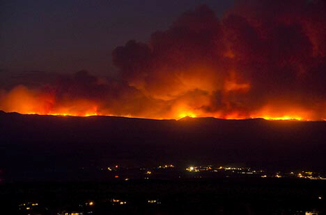 Huge fires engulf Arizona, Nevada and Utah