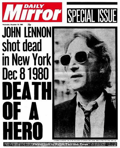News of John Lennon's murder