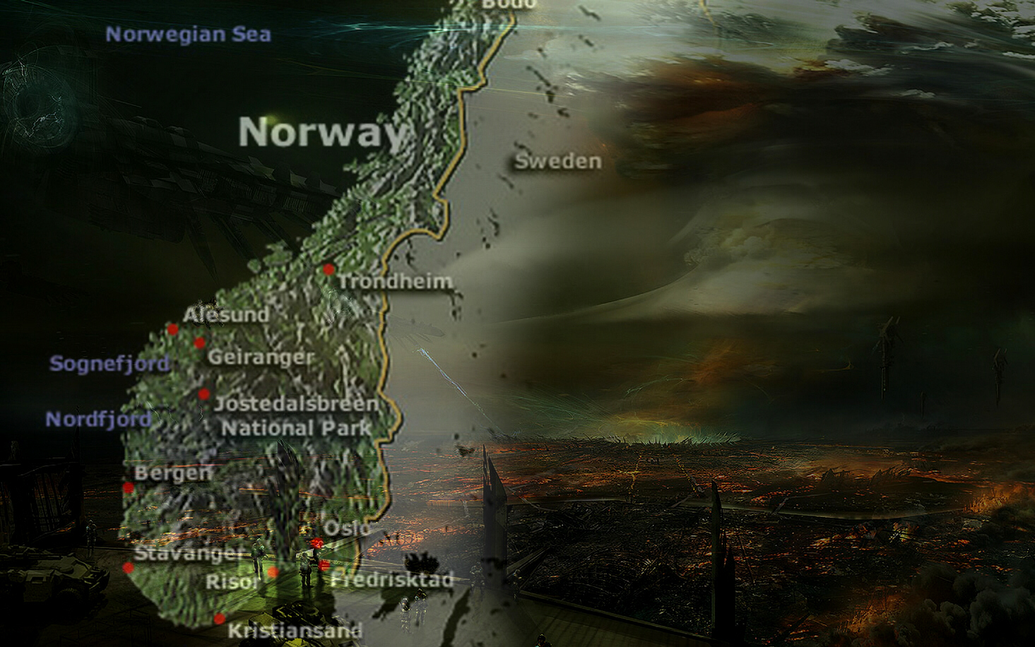Northern Europe disappears due to mysterious cause