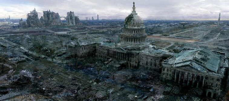 This computer generated image posted on terror forums depict what would happen if a nuclear attack took place in Washington D.C.