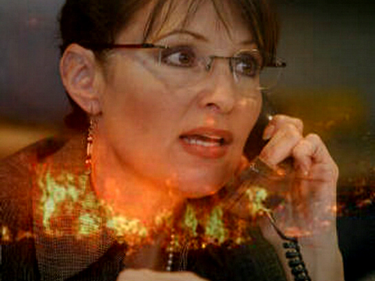 Alaska Governor Sarah Palin calls Washington after nuclear attack