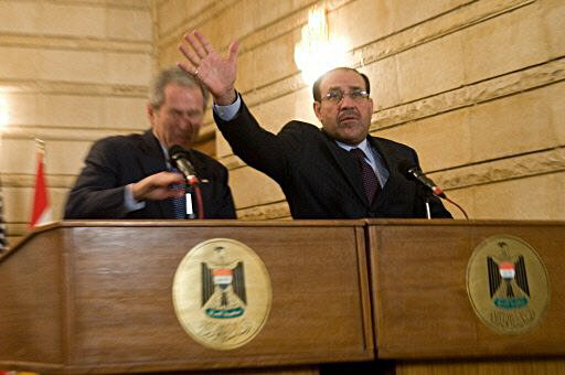 Nuri al-Maliki tries to block George W. Bush
