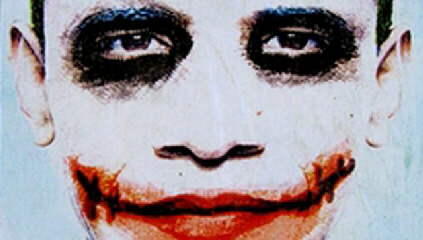 Posters show Obama as the Joker