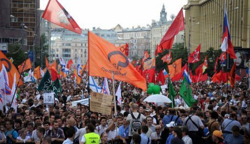 Opposition activists rally in Moscow