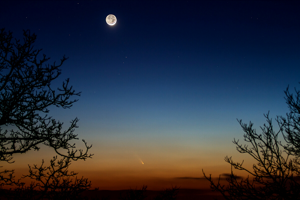 Comet PanSTARRS as seen in France