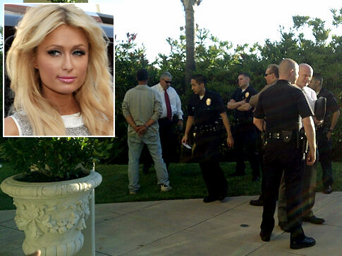 Paris Hilton (inset) came close to being murdered during a home invasion. This is by far the most serious break-in attempt while Paris Hilton was at home to date. The man, armed with kitchen knives, was clearly quite insane and would have likely killed Hilton had he got close enough to her. She was very lucky she was awake and able to call police when this happened.