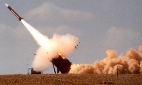 Patriot missile launched during Israeli-US exercise