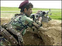 Peshmerga fighter in northern Iraq.