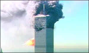 US passenger jet impacts with second tower of World Trade Center