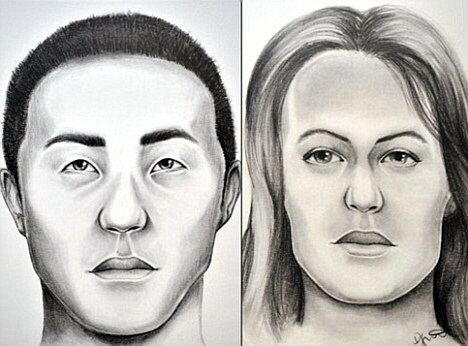 Police sketches of unidentified bodies related to Gilgo beach killings