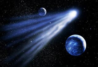 Comet Dracula could get kicked down closer to the sun by interactions with the outer planets and the solar system's heavyweight, Jupiter. If it did that, Dracula could become a menace to planet Earth.