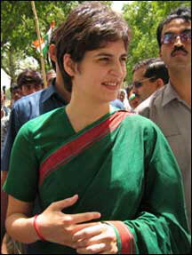 Priyanka Gandhi (' the daughter without much different domain'?)