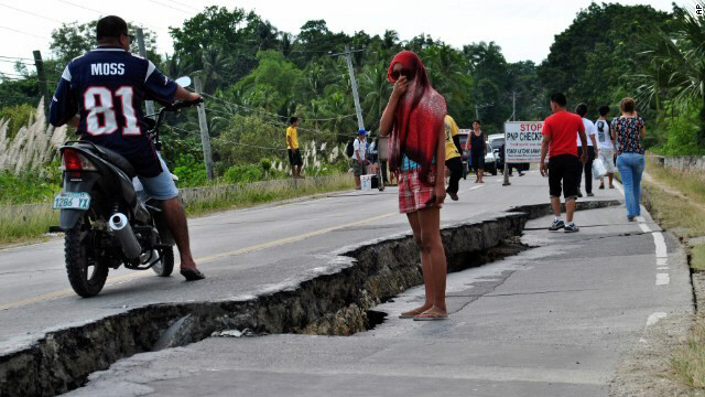 Province of Bohol after 7.1 earthquake hit the Philippines