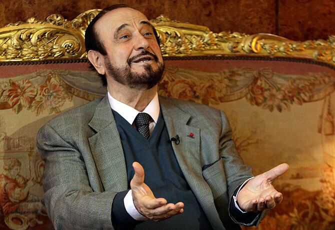 Rifaat al-Assad, pictured here on November 15, 2011 in Paris, wants to lead Syria transition
