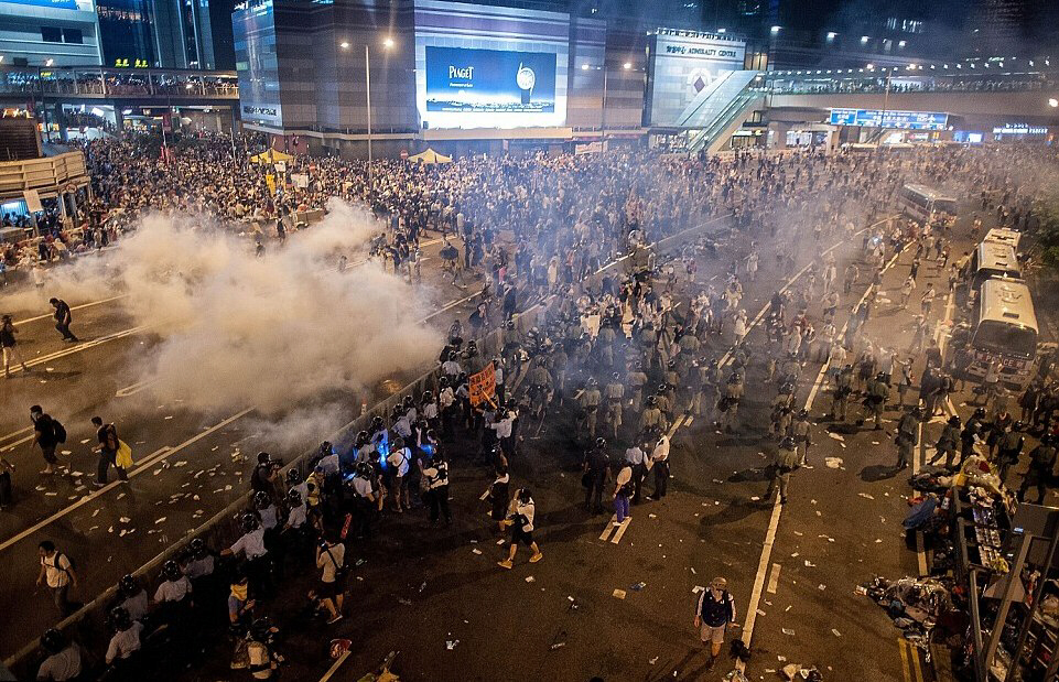 Riots in Hong Kong lead to government massacre of civilians