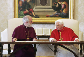 Anglican Archbishop Rowen Williams and Pope Benedict XVI