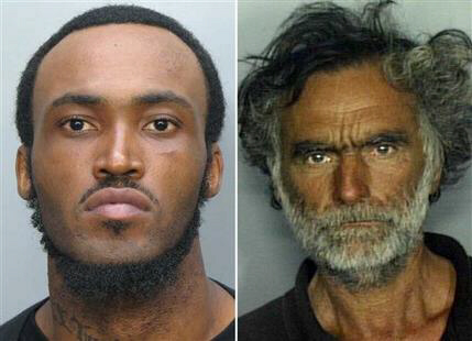 Rudy Eugene, 31 (left), ate the face of Ronald Poppo, 65 (right)