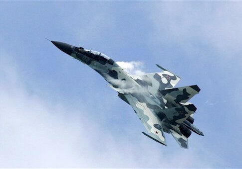 Russian-Su-30 runs attack scenario against NATO