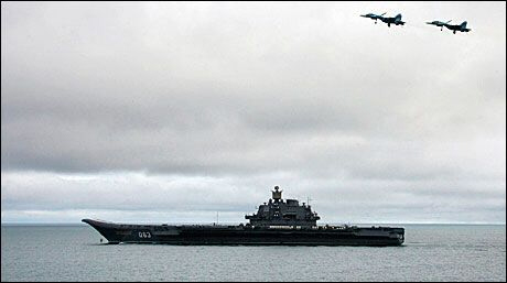 Russian Carrier Admiral Kuznetsov in North Sea