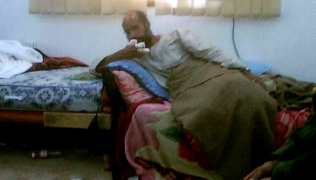 Saif al-Islam Gadhafi after his capture Saturday