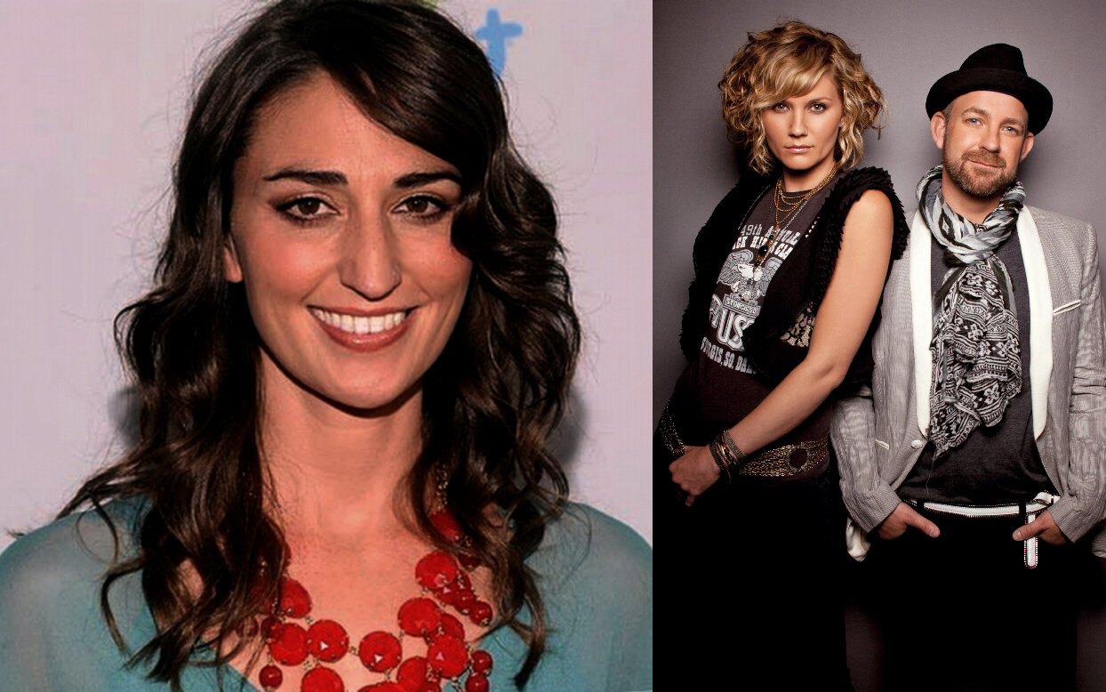 Sara Bareilles (L) had just finished her opening act and Sugarland (R) was just about to perform when disaster struck,