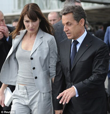 Security stepped up for France's First Lady Carla Bruni