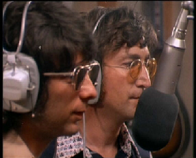 "Spector and Lennon working together on John's album ""Rock n' Roll"" in 1973"
