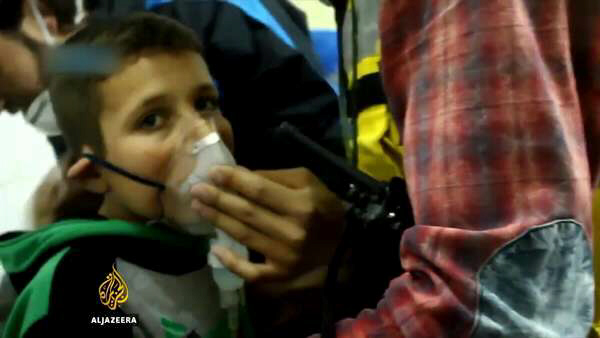 Syria war reports on Chlorine gas dropped