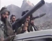 Taliban fighters in the mountains of Afghanistan