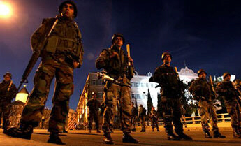 The Lebanese army declared a night curfew