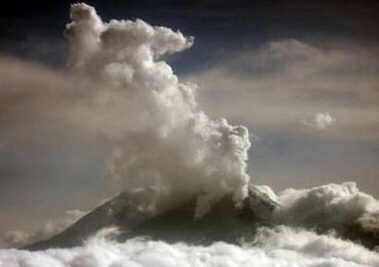The Nevado del Huila volcano erupts