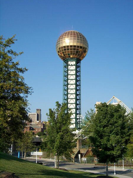 The Sunsphere in Knoxville, TN