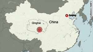 The earthquake struck China's Qinghai province