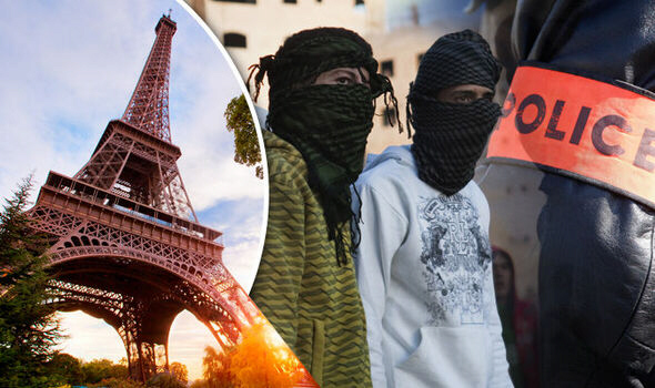 The girl was allegedly gang raped in the park where the Eiffel Tower is