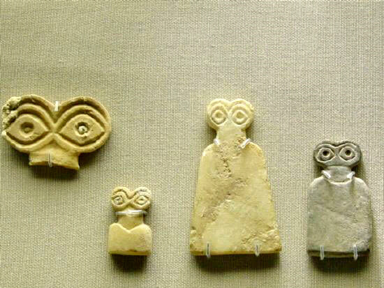 "Sumerian figurines of the ""little helpers"" who aided the Nephilim"