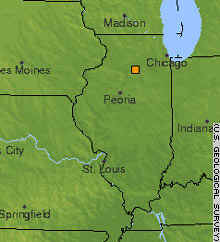 This U.S. Geological Survey map shows the epicenter about 70 miles west of Chicago