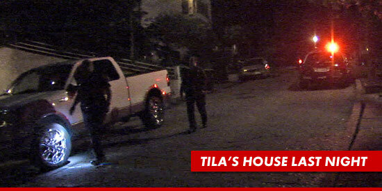 Tila's house on night of suicide attempt