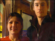Tracy Roberts(l) and her son Anthony Martin(r)