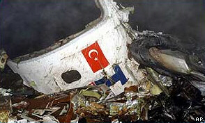 Turkish plane crash remains