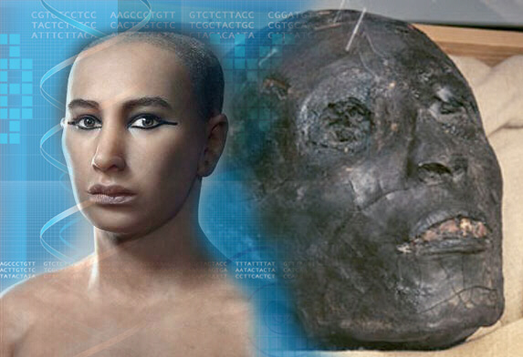 Was King Tut, son of Ahknaten and Nefertiti, of Western European stock?