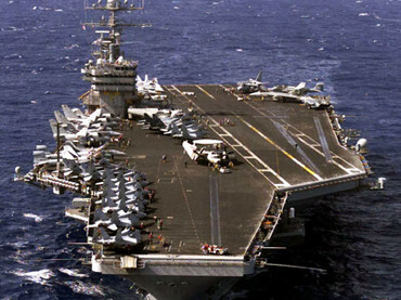 USS Dwight D. Eisenhower aircraft carrier steams towards Syria